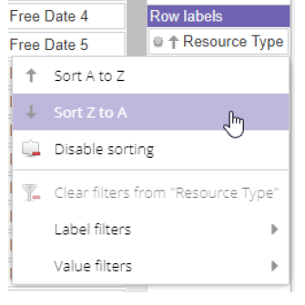 Sorting and filtering labels