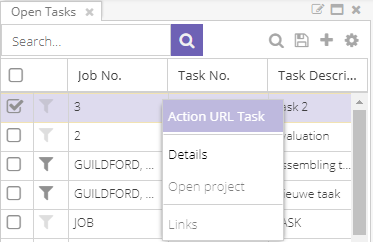 Action URI in the context menu